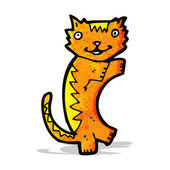 Cartoon ginger cat — Stock Vector