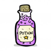 Cartoon magic potion — Stock Vector