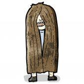 Long haired hippie cartoon — Stock Vector