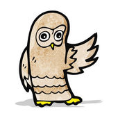 Cartoon owl — Stockvektor