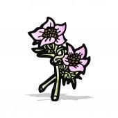 Wildflowers illustration — Stock Vector