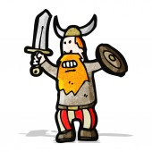 Cartoon viking — Stock Vector