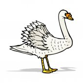 Illustration de cygne — Vecteur