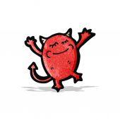 Cartone animato piccolo diavolo — Vettoriale Stock