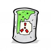 Radioactive waste cartoon — Stock Vector