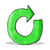 Cartoon circular arrow — Stockvektor