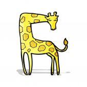Cartoon giraffe — Stock Vector