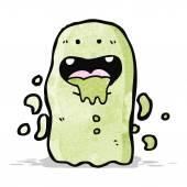 Slimy cartoon ghost — Stock Vector