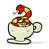 Cartoon tea cup — Stock Vector