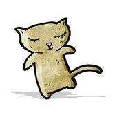 Roztomilá kreslená kočka — Stock vektor