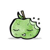 Cute cartoon apple — Stock Vector