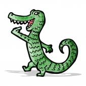 Friendly crocodile cartoon character — Stock Vector