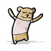 Cartoon teddy bear — Stock Vector
