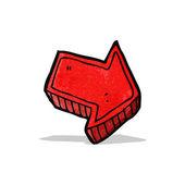 Cartoon direction arrow — Stock Vector