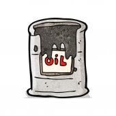 Cartoon barrel of oil — Stock Vector