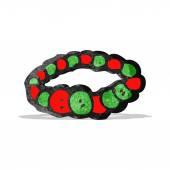 Cartoon beads bracelet — Stock Vector