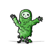 Cartoon melting slime zombie — Stock Vector