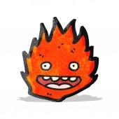 Cartoon burning fire — 图库矢量图片
