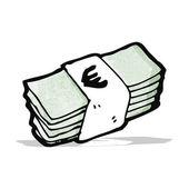 Cartoon-bargeld — Stockvektor