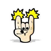 Cartoon rock sign symbol — Stock Vector