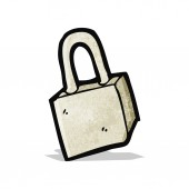 Cartoon padlock — Stockvector