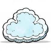 Símbolo de nuvem de desenho animado — Vetor de Stock