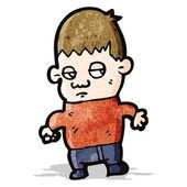 Unhappy boy cartoon — Stock Vector