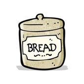 Bread basket cartoon — Stock Vector