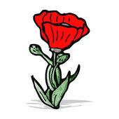 Poppy cartoon — Stock Vector