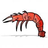 Cartoon shrimp — Stock Vector