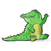Cartoon crocodile — Stock Vector