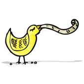 Singing bird cartoon — Stock Vector