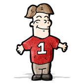 Uomo di cartone animato in camicia sport — Vettoriale Stock