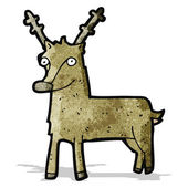 Cartoon reindeer — Stock Vector