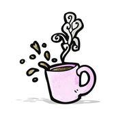Cartoon coffee cup — Stock Vector