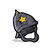 Cartoon british policeman's helmet — Stock Vector