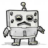 Cartoon funny robot — Stock Vector