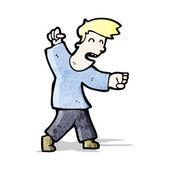 Cartoon angry man — Stock Vector