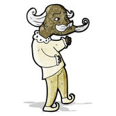 Cartoon playwright man — Stockvektor