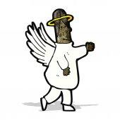 Kreslený anděl — Stock vektor