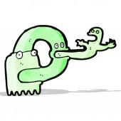 Fantasma espeluznante de dibujos animados — Vector de stock