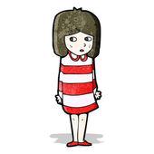 Cartoon anxious girl — Vetorial Stock