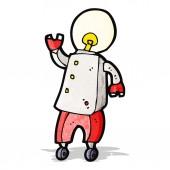 Robot futurista de dibujos animados — Vector de stock