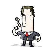 Cartoon man smoking — Stock Vector