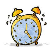 Ringing alarm clock cartoon — Stock Vector