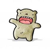Cartoon little teddy bear — Stock Vector