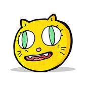 Cartoon cat face symbol — Stock Vector