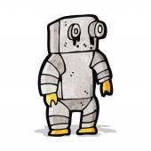 Cartoon sad little robot — Stock Vector
