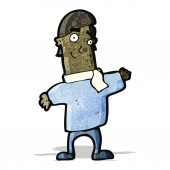 Cartoon friendly man — Stock Vector