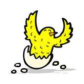 Cartoon flapping bird — Stock Vector
